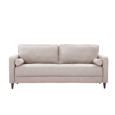 Madison Home USA Mid Century Modern Linen Fabric Living Room Sofa Reviews