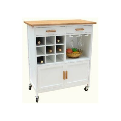 butcher block cart amazon kitchen with wheels marketing oaken walmart