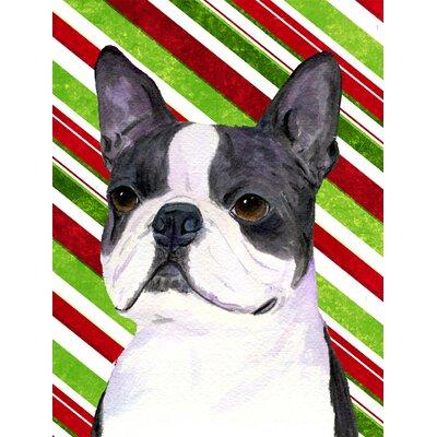 Carolineu0027s Treasures Boston Terrier Candy Cane Holiday Christmas 2 Sided Garden  Flag U0026 Reviews | Wayfair