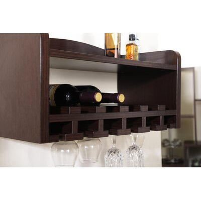darby home co sullivan 6 bottle wall mounted wine rack u0026 reviews wayfair