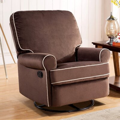 darby home co roquemore fabric swivel glider recliner u0026 reviews wayfair - Reclining Glider