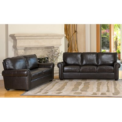 Darby Home Co Coggins Leather Sofa and Loveseat Set   Reviews   Wayfair. Darby Home Co Coggins Leather Sofa and Loveseat Set   Reviews