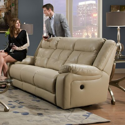 darby home co simmons upholstery obryan pearl double motion reclining sofa u0026 reviews wayfair