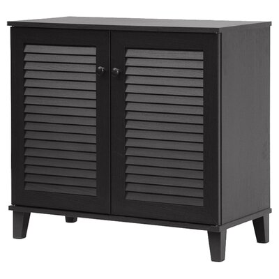 darby home co 14pair solid wood shoe storage cabinet u0026 reviews wayfair