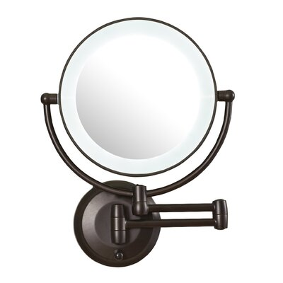 Wall Makeup Mirror darby home co led lighted 1x/10x magnification mount wall mirror