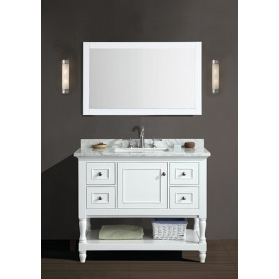 "Bathroom Vanity And Mirror Set darby home co amie 42"" single bathroom vanity set with mirror"