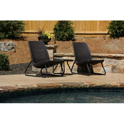 Varick Gallery Cater All Weather 3 Piece Lounger Seating Set