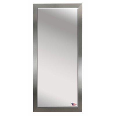 Brushed Nickel Wall Mirror wade logan beveled brushed nickel wall mirror & reviews | wayfair