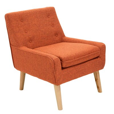 Mercury Row Reese Tufted Fabric Retro Slipper Chair & Reviews ...