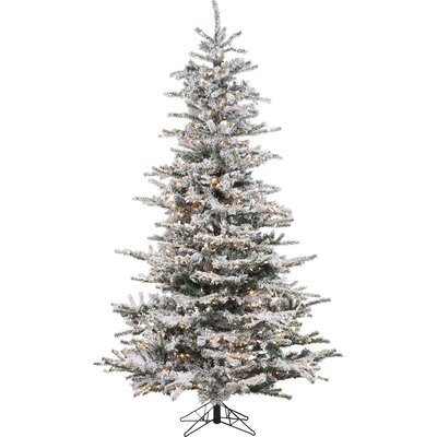lark manor pre lit 85 white spruce trees artificial christmas tree with 750 clear white lights reviews wayfair - White Christmas Tree Pre Lit
