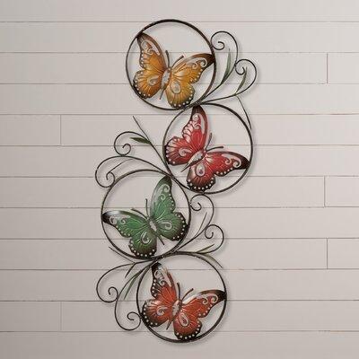 August Grove Ila Metal Butterfly Wall Décor U0026 Reviews   Wayfair