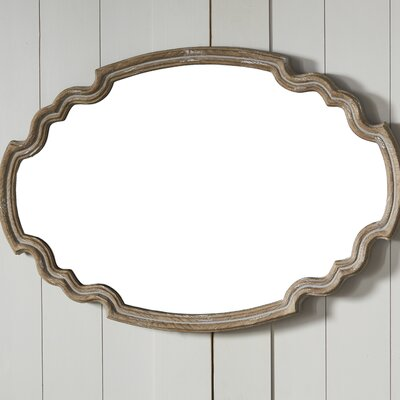 Wood Wall Mirror one allium way wood accent wall mirror & reviews | wayfair