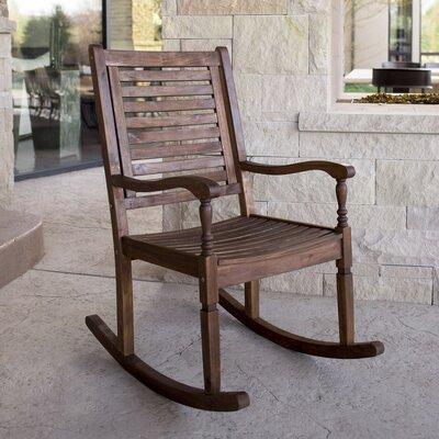 Loon Peak Imene Solid Acacia Wood Patio Rocking Chair U0026 Reviews   Wayfair