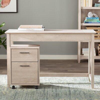 beachcrest home oridatown writing desk with 2 drawer mobile pedestal u0026 reviews wayfair