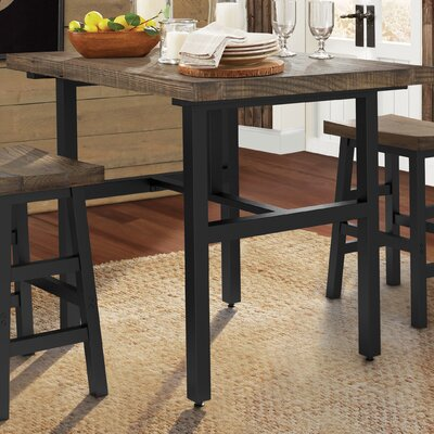 rustic kitchen table counter height loon peak reclaimed wood dining white sets small