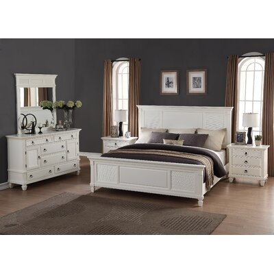 Roundhill Furniture Regitina Panel 5 Piece Bedroom Set & Reviews ...