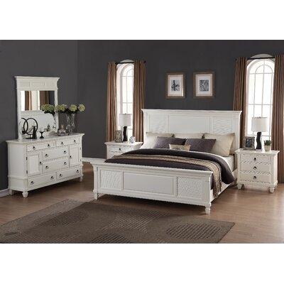 Roundhill Furniture Regitina Panel 5 Piece Bedroom Set Reviews Wayfair