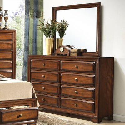 Great Oakland 8 Drawer Dresser With Mirror