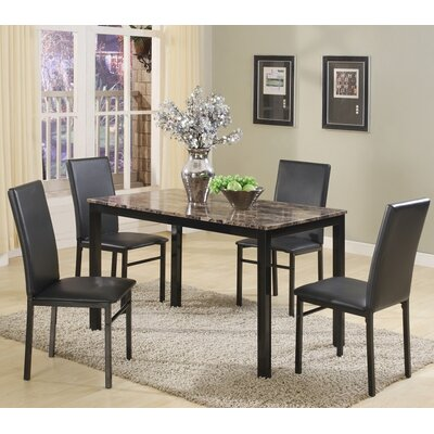 Red Barrel Studio Noyes 5 Piece Dining Set   Reviews   Wayfair. Red Dining Chairs And Table. Home Design Ideas