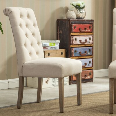 Kenleigh Solid Wood Button Tufted Side Chair & Reviews | AllModern