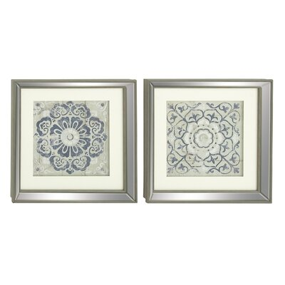 Framed Wall Art Set Of 2 mistana 2 piece polystone mirror framed wall art set & reviews