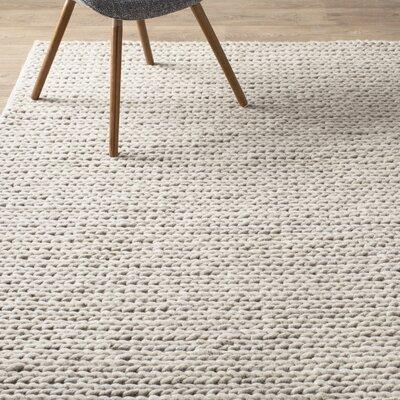 Mercury Row Dunfee Chunky Wool Cable Off White Area Rug U0026 Reviews   Wayfair