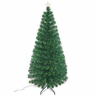 homcom 6 artificial christmas tree with led lights reviews wayfair - 6 Christmas Tree