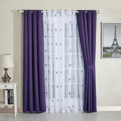 Serenta Fleur De Lis Geometric Semi Sheer Thermal Curtain Panels U0026 Reviews  | Wayfair