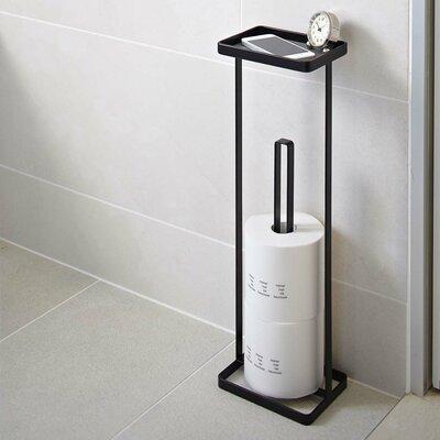 Yamazaki USA Tower Freestanding Toilet Paper Stand with Tray