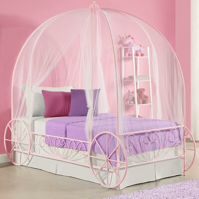 Zoomie Kids Brandy Twin Canopy Bed Reviews