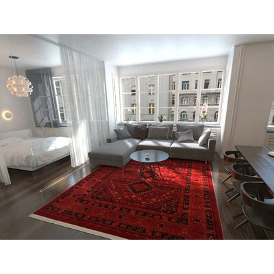 Red Living Room Rug A
