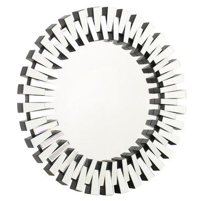 Round Wall Mirror willa arlo interiors deniece sunburst round wall mirror & reviews