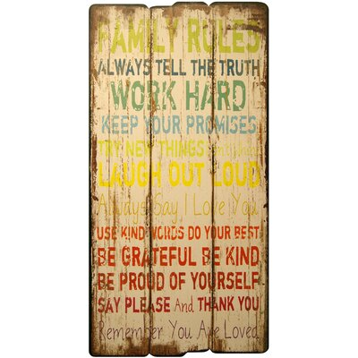 HDC International Decorative Plaque Family Rules Wall Decor ...