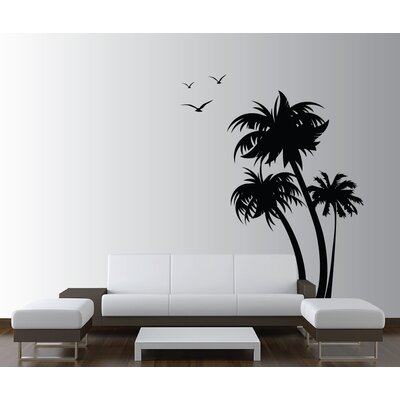 Innovative Stencils Palm Coconut Tree With Seagull Birds Nursery Wall Decal  U0026 Reviews | Wayfair Part 93
