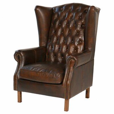 Attractive Joseph Allen Old World Antique Leather Wingback Chair U0026 Reviews | Wayfair