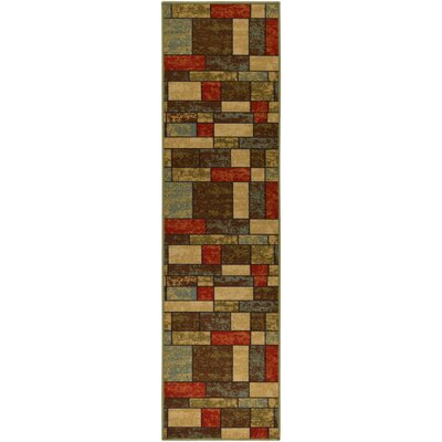 Andover Mills Galesburg Brown/Red Area Rug U0026 Reviews | Wayfair