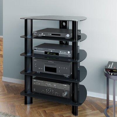 Latitude Run Norwood Glass Component Stand Audio Rack U0026 Reviews | Wayfair