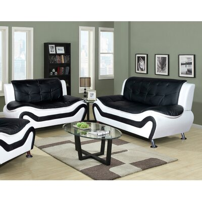 Latitude Run Algarve Leather Sofa And Loveseat Set U0026 Reviews | Wayfair