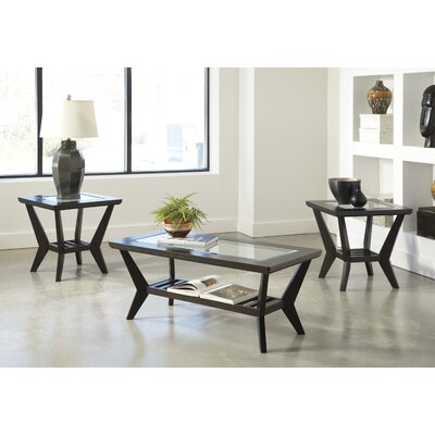 Latitude Run Woodrow 3 Piece Coffee Table Set in Brown & Reviews ...