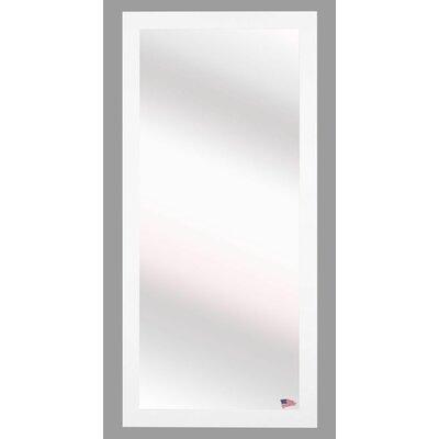 Full Body Wall Mirror latitude run satin white full body wall mirror & reviews   wayfair