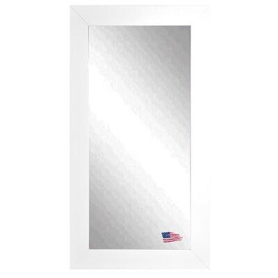 Tall Wall Mirror latitude run rectangle satin white wide tall wall mirror & reviews