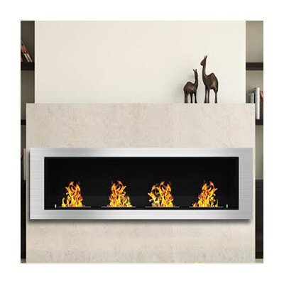 Luxe Ventless Wall Mount Bio Ethanol Fireplace Reviews AllModern