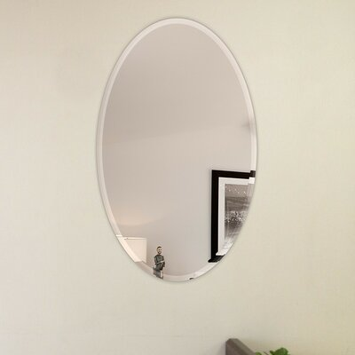 Frameless Wall Mirror fab glass and mirror oval beveled polish frameless wall mirror