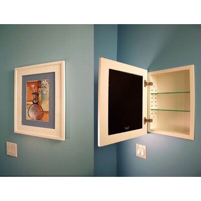 recessed mirrored medicine cabinet with lights 14 x 18 opening concealed home depot canada