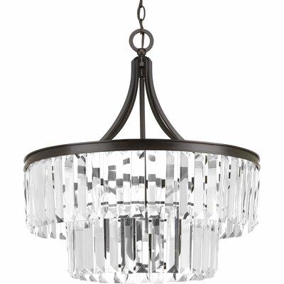 Eggar 5 light crystal chandelier reviews birch lane