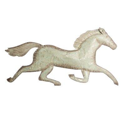 Silver Metal Wall Decor laurel foundry modern farmhouse running horse decorative silver