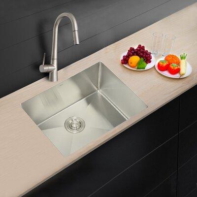 stylish 23   x 18   undermount kitchen sink  u0026 reviews   wayfair  rh   wayfair com