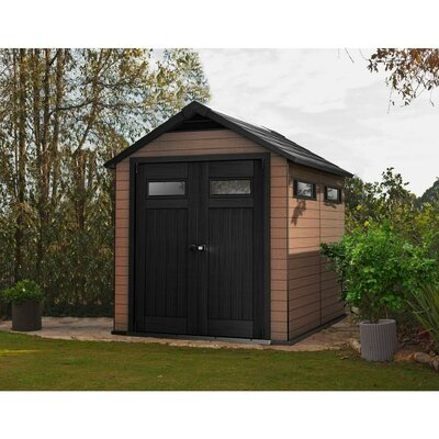 keter fusion 7 ft 6 in w x 9 ft 5 in d composite storage shed reviews wayfair