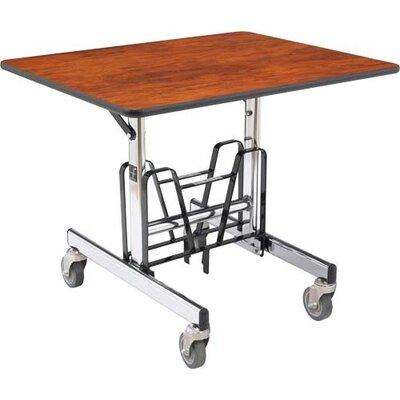 "sicoamerica uni-fold 28.5"" x 36"" rectangular cafeteria table with"