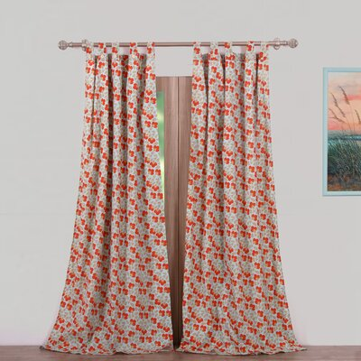 greenland home fashions terra blossom sheer tab top curtain panels u0026 reviews wayfair - Greenland Home Fashions